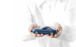 Car on hand Stock Photos