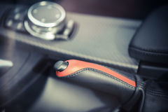 Car hand brake Royalty Free Stock Photography