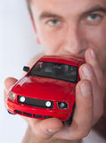 Car in the hand Royalty Free Stock Image