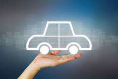 Car in hand Stock Photography