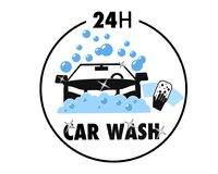 Car hand wash service super quality graphic style educational poster. Great quality work. On this picture you can see some high quality and resolution  graphic Royalty Free Stock Photo