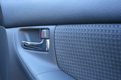 Car handle. Close up view of car handle Royalty Free Stock Photography