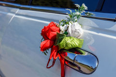 Car handle flowers Royalty Free Stock Photos