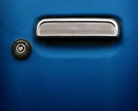 Car handle and keyhole Stock Image