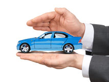 Car in hands Royalty Free Stock Photography