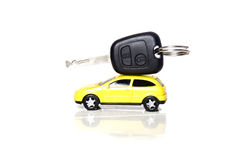 car happy key man new 免版税图库摄影