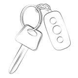 car happy key man new Στοκ Εικόνα