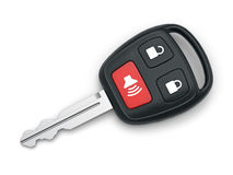 car happy key man new Arkivfoto