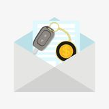 car happy key man new Иллюстрация вектора