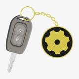 car happy key man new Иллюстрация штока