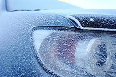 Car in harch climatic conditions Stock Image