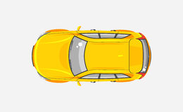 Car Hatchback Top View Royalty Free Stock Image
