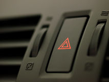 Car hazard button Royalty Free Stock Photography