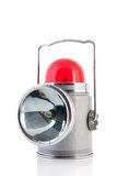 Car hazard light. Old car hazard red light isolated over white background stock photography