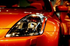 Car head light detail Stock Images
