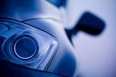 Car head light in focus Royalty Free Stock Images