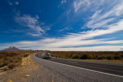 Car heading  Mt Ngauruhoe - New Zealand Royalty Free Stock Images