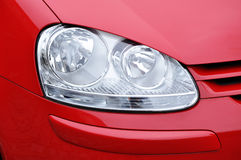 Car headlamp red Stock Images