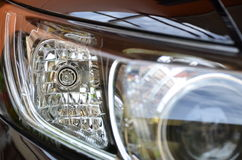 Car headlamp reflections Stock Photos