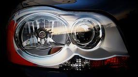 Car Headlight Volvo Xenon. Beautiful detail of a car headlight - model Volvo XC90 stock photography