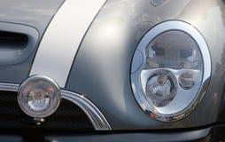 Car Headlight. Mini cooper Royalty Free Stock Image