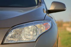 Car headlight close-up Royalty Free Stock Photography