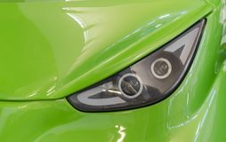 Car headlight. Close-up. Stock Photo