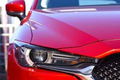 Car headlight close-up. Car headlight closeup Stock Photo