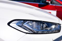 Car headlight closeup. Car headlight close-up Royalty Free Stock Photo