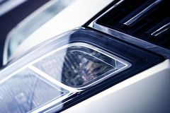 Car Headlight Closeup Stock Images