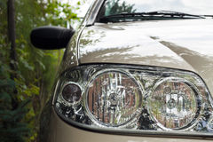 Car headlight detail Stock Photos