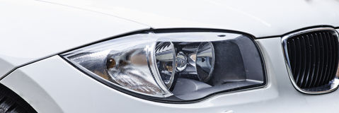 Sport car headlight Royalty Free Stock Photos