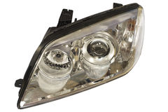 Car headlight on a white background Royalty Free Stock Photos