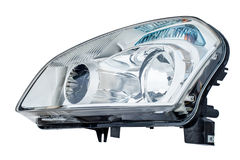 Car headlight on a white background Royalty Free Stock Image
