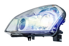 Car headlight on a white background Stock Photo