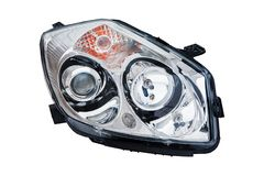 Car headlight on white background royalty free stock images