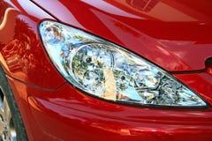 Car headlights stock photos