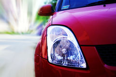Car Headlights. Depicts the headlights of a car stock photo