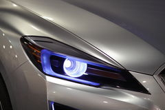 Car Headlights. Headlights from sporty car close up Stock Photography