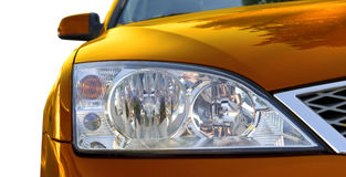 Car Headlights Royalty Free Stock Photos