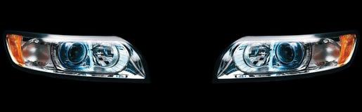 car headlights Στοκ Φωτογραφίες