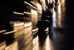 Car headlights. Blurred to illustrate drunk driving royalty free stock image