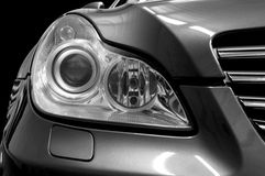 Car headlights. Royalty Free Stock Images