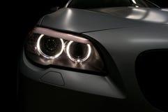 Car headlights. Exterior detail. Horizontal photo royalty free stock photo