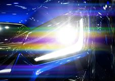 Car headlights. Exterior detail. Car luxury concept Royalty Free Stock Photography
