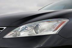 Car headlights. Luxury Headlights stock image