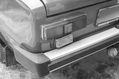 Car headlights. Luxury Headlights. Black and white photo royalty free stock photography