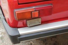 Car headlights. Luxury Headlights. Red stock images