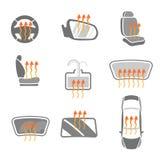 Car Heating System Set Stock Photo