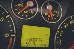 Car high fuel consumption Stock Photography